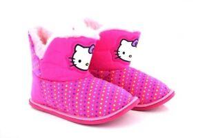 91a739da5a8 Officiel Hello Kitty Filles à Fourrure à Enfiler Bottines D ...