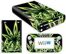 Nintendo Wii U Skin Design Foils Aufkleber Schutzfolie Set - Cannabis Motiv