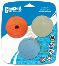 Chuckit Dog ball Medley pack Gen 1, 3 balls, includes a glow in the dark