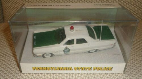 Pennsylvania State Police 1:43 Diecast 1969 Plymouth Fury Patrol Car Mint Sealed
