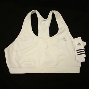 New-Reebok-Womens-Techfit-Powerlifting-Training-Crossfit-White-Bra-Sz-X-Large