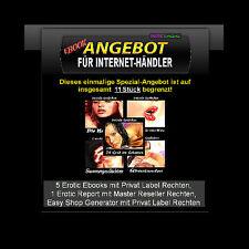 Erotik Spezial eBooks & Shop Generator (für Internet-Marketer) - PLR-Lizenz