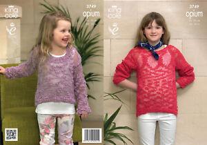 71d2db0af King Cole Girls Knitting Pattern Opium Easy Knit Long Sleeve Jumper ...