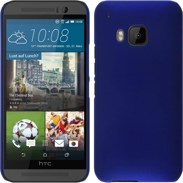 Hardcase for HTC One M9 rubberized blue Cover + protective foils