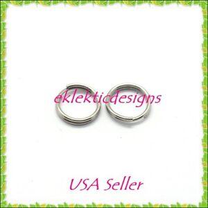 6mm 25pcs 1.2mm 16ga 304 Stainless Steel Jump Rings Jewelry Findings Open Split