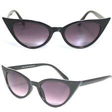 Gafas ojo de gato negro estilo retro Vintage Rockabilly #RF173 50s 60s