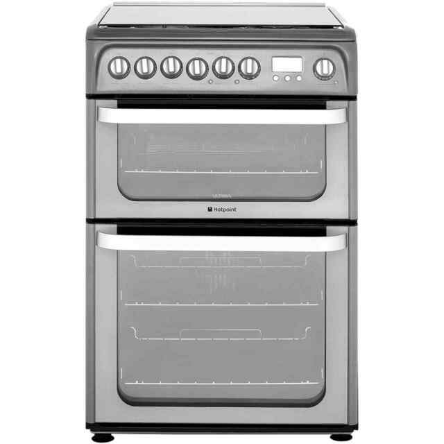 Hotpoint HUD61GS Free Standing Dual Fuel Cooker with Gas Hob 60cm Graphite New
