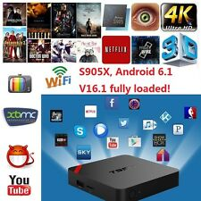 T95N TV Box Mini MX+ Kodi 4K S905X 64 Bits Quad Core Android 6.0 WIFI 1G+8G USA