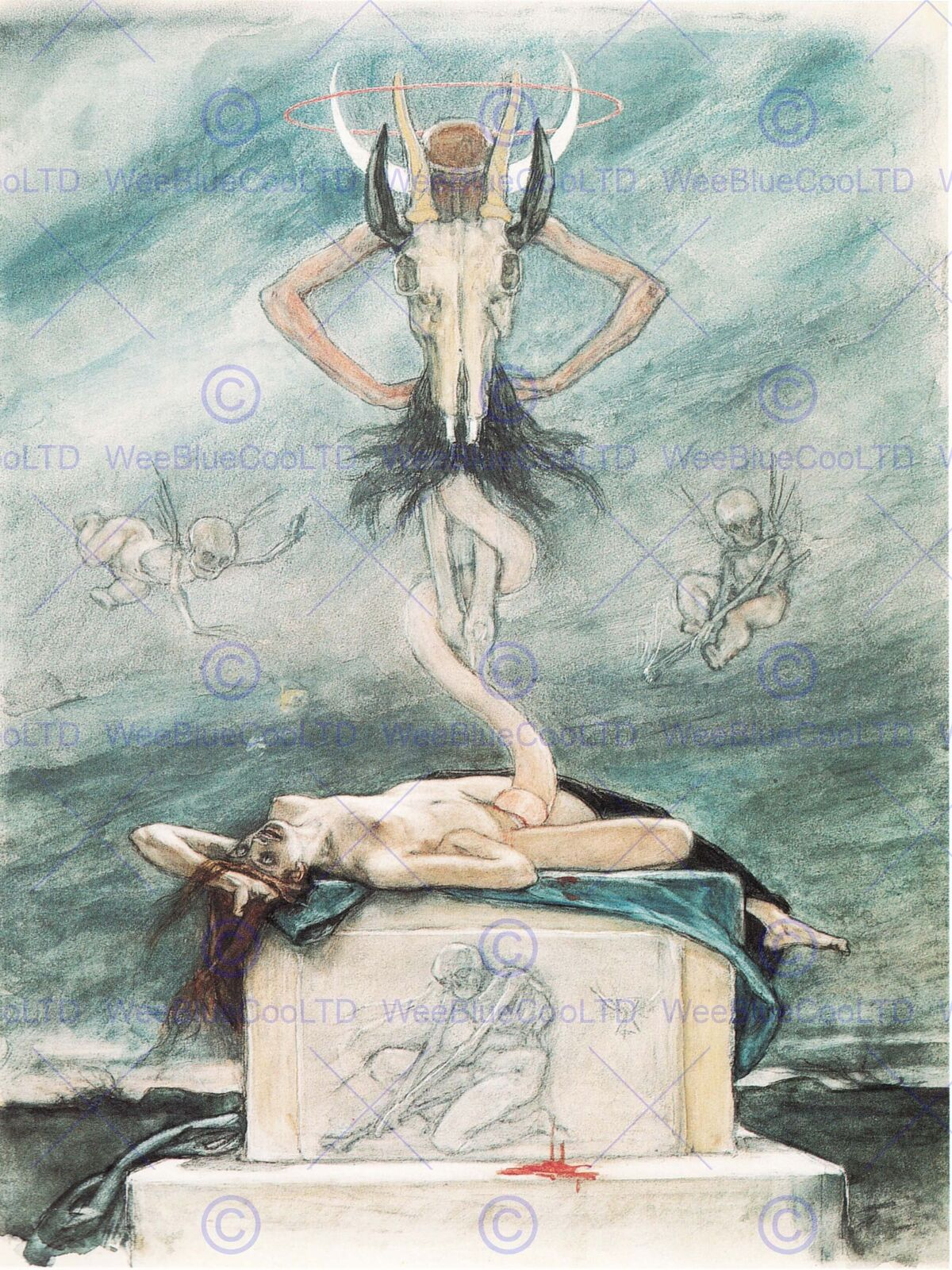 PAINTING PAINTING EDVARD  MUNCH VAMPIRE 1895 12X16 INCH ART PRINT POSTER HP2316