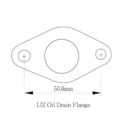 Steel 10AN Turbo Oil Drain Engine Block side Flange For TOYOTA 1JZ// 2JZ 45DEG