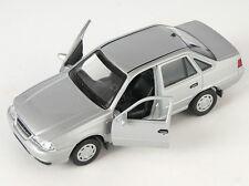 BLITZ VERSAND Chevrolet Nexia II silber silver Welly Modell Auto 1:34 NEU & OVP