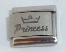PRINCESS Italian Charm - Tiara Crown I Love my Daughter 9mm Classic Size N254