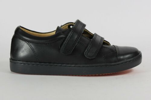 "Petasil /""Pose/"" boy/'s leather school shoes with hook and loop F Fitting"