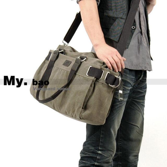 Mens Vintage Canvas Shoulder Messenger Bag Tool School Sling Bag Satchel 1062
