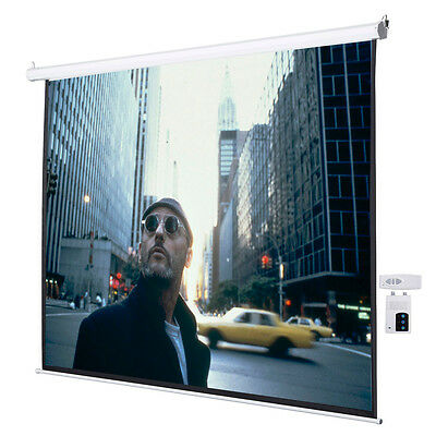 """120"""" 4:3 Electric Auto Projector Projection Screen 96""""x72"""" Remote Control"""