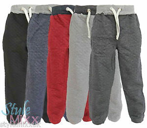 Boys-Toddlers-Quilted-Joggers-Kids-Cotton-Jogging-Pants-Trackie-Bottoms-1-13-YRS