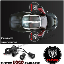 For Dodge RAM Ghost Shadow Led Car Door Logo Laser Welcome Projector Step Light