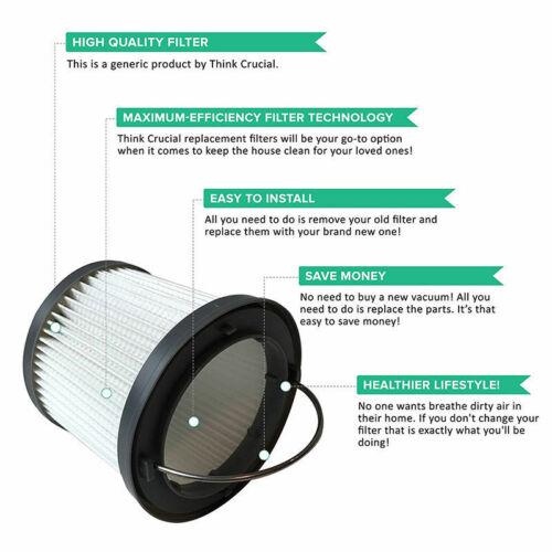 3x For Black /&Decker Filter Dustbuster Pivot PV1020L PV1200AV PV1420L //PV1820L