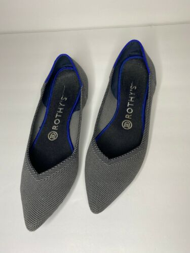 """ROTHYS """"The Point"""" Cloud Grey Birdseye Point Shoes"""