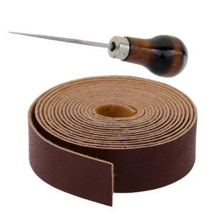 10-Meters-Leather-Strap-Strips-Leathercraft-Punching-Tools-Manico-in-legno