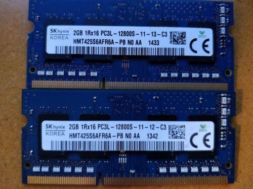 4GB 2x2GB DDR3 PC3-12800S 1600MHz RAM Memory Laptop HP Apple Mac Dell Macbook