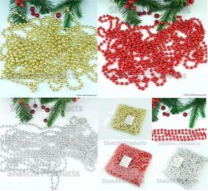 24-FT-environ-7-32-m-8-M-perle-boule-chaine-Guirlande-Arbre-de-Noel-Suspendu-Decorations-de-Noel