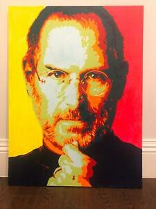 Painting-of-Steve-Jobs-of-Apple-Corp-Acrylic-on-Canvas-40-034-x-30-034