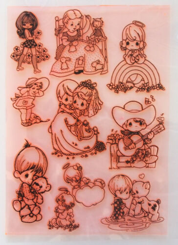 """Clear Stamps Sheet 7/""""x10/"""" ~ Happy Lovely Children FLONZ Vintage Rubber 403-105"""