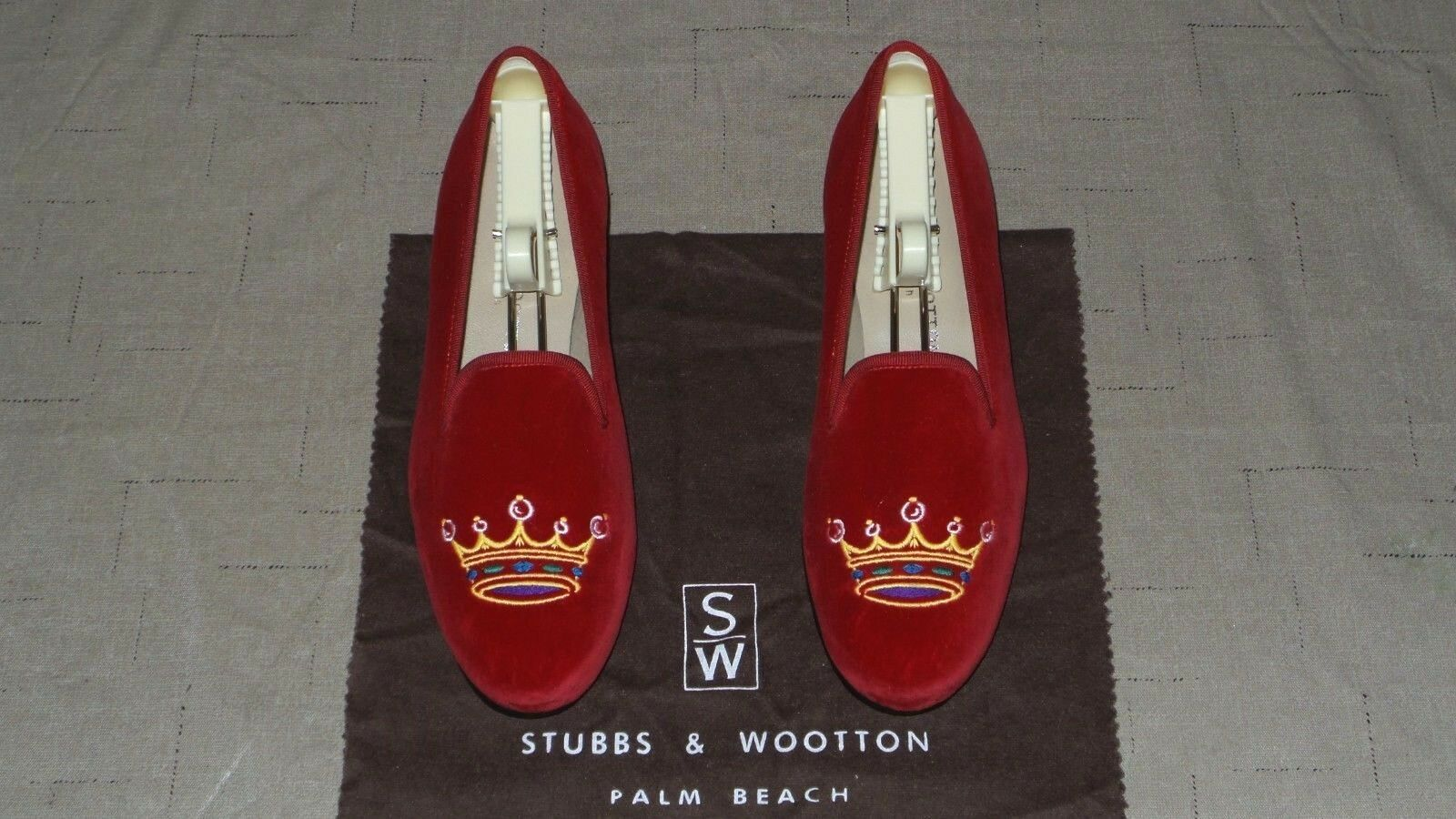 Tan lindo  Mujer  450 Stubbs and wootton wootton wootton Velvet  corona  Zapatillas Mocasines Zapatos  grandes ofertas