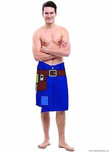 THE HANDYMAN TOWEL - Tool Belt Blanket Beach Pool Bathroom  - Gag Joke BigMouth