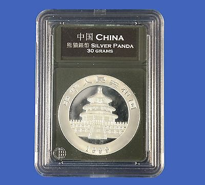 Premier Certified Style Coin Holder for 30g Chinese Silver Panda with Labels