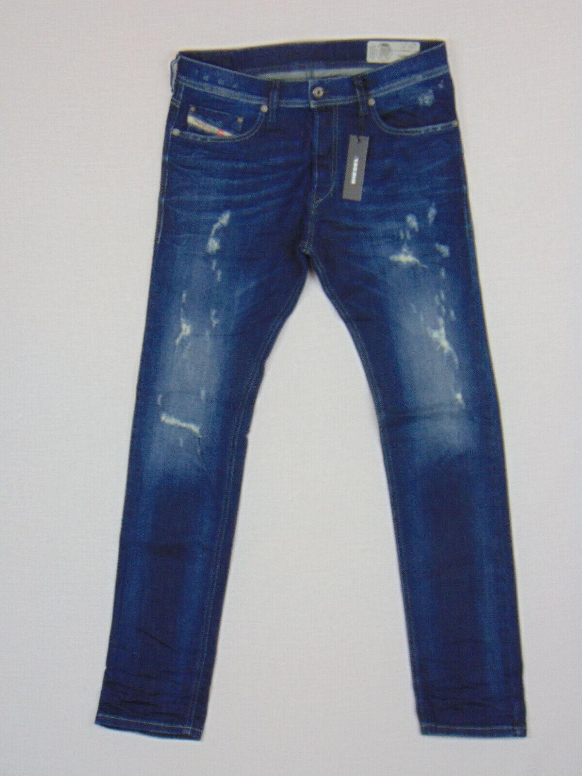DIESEL Tepphar R844T SLIM CAROTA W32 L32 RRP  Da Uomo Blu Stretch Denim Jeans