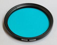 52mm REAL Anti-Reflective Coated Schott BG-40 glass IR Cut filter color correcti