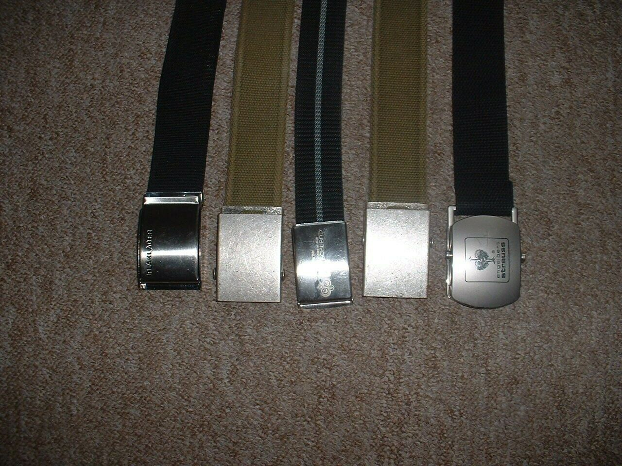 5 Gürtel, Koppel-Gürtel, gebraucht