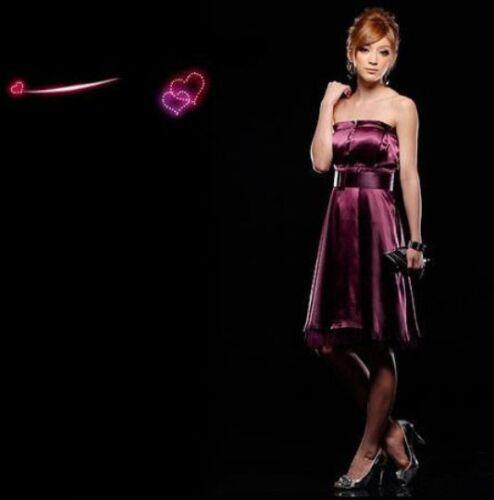 wunderschönes Abendkleid Cocktailkleid schulterfrei 2 Farben S-L  NEU