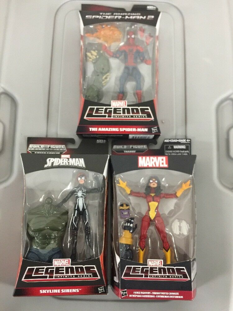Marvel Legends Infinite Series Amaz Spider-Man 2, FIERCE FIGHTERS & SKYLINE SIR