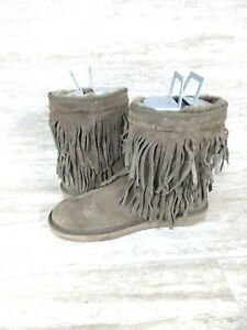 3338051f5c9 Koolaburra by UGG Cable Short Women's Winter Boots Brown Fringe ...