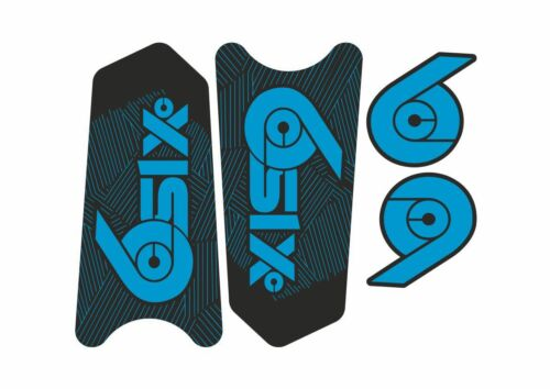 Race Face SixC Crank Decals Set Stickers Mountain Bike Adhesive Blue 2Pcs
