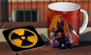 Duke Nukem Coffee MUG + Wooden Coaster Gift Set 2YrA3sOi-09154613-392153519
