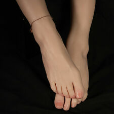 Knowu Gold Silicone Foot Model Female Displays Model Realistic 225cm Toes Fixed