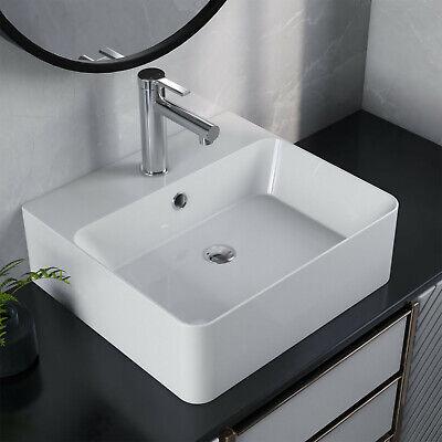 Deervalley White Ceramic Rectangle Vessel Bathroom Sink Topmount With Overflow Ebay