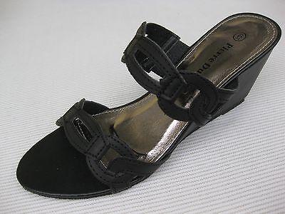 Pierre Dumas Womens Shoes NEW $44 Madeline Black Slide Wedge 9 M