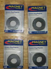 8 Ceramic Ring Magnets 175 Inch Outer Diameter 0865 Inner 0225 Thick 4x2
