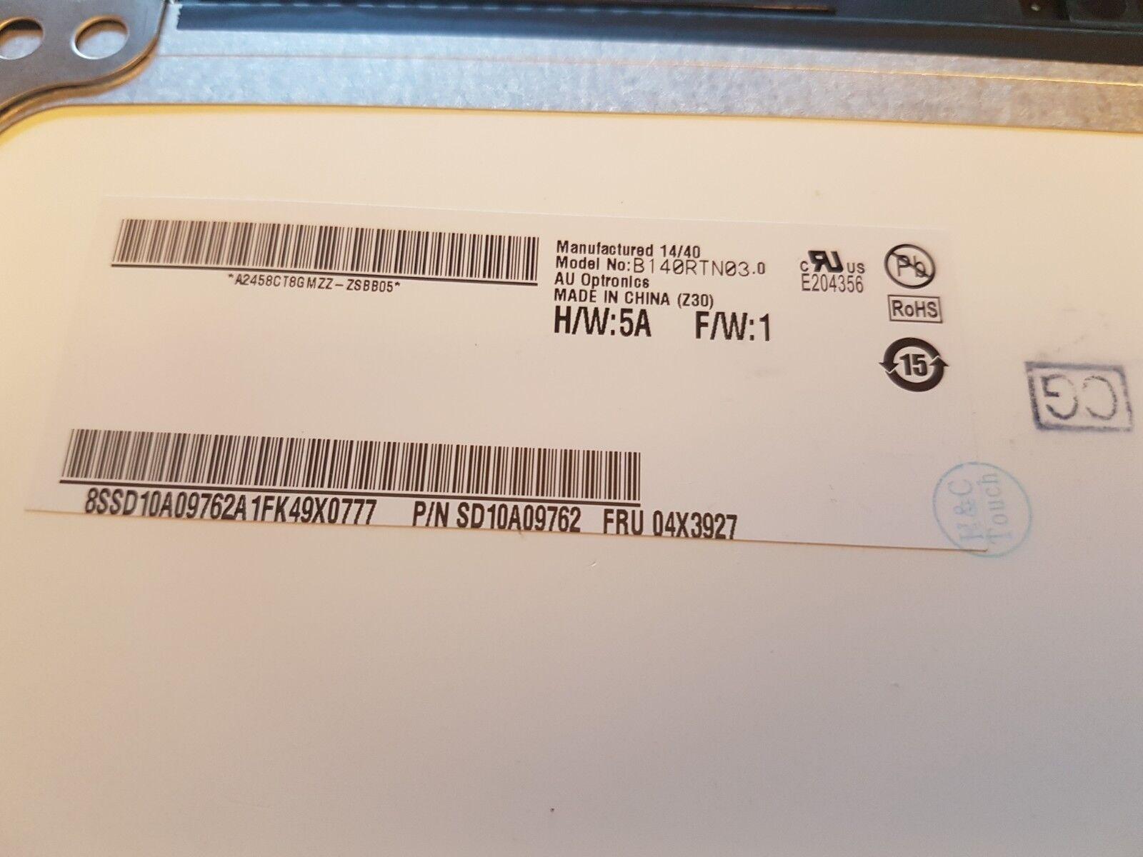 "0A66631 15.6/"" WUXGA Laptop LCD LED Screen New Display for IBM Lenovo P//N"