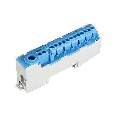 Pollmann Sammelklemme Nullleiterklemme f. Hutschiene N14-S blau Verteilerklemme