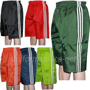 Mens Nylon Shorts Unisex Basketball Workout Gym Pockets Short Pants