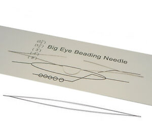 Big-Eye-Beading-Needle-long-10cm-Edelstahl-Naehnadeln-100mm-x-3mm-Y10