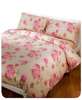 Set Bettbezug Bettlaken Beatrice Rosen Beige Pink Blumen Caleffi SchüTtelfrost Und Schmerzen Möbel & Wohnen