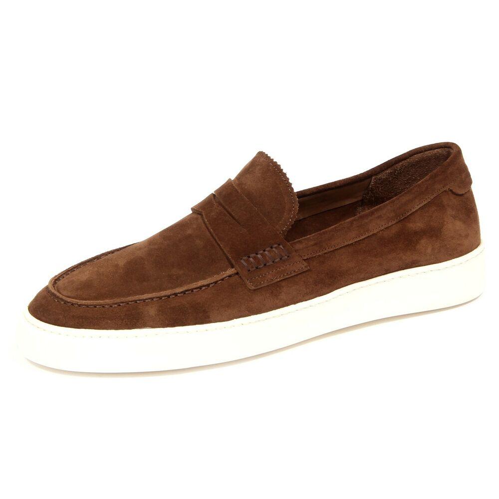 0944j Mocassino Uomo Brown Caracciolo 1971 Suede Loafer Shoe Man