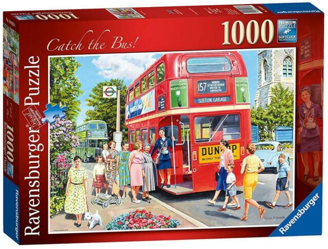 Ravensburger 19823 High Quality Catch The Bus 1000 Pieces Jigsaw Puzzle - Multi